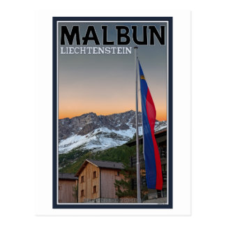 Malbun Flags Postcard