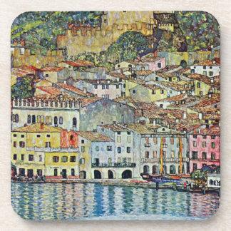 Malcesine on Lake Garda By Gustav Klimt Coaster