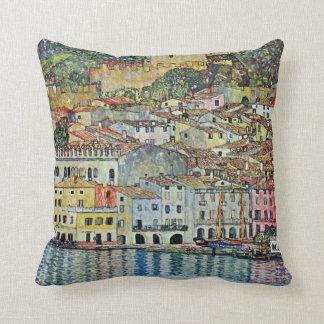 Malcesine on Lake Garda By Gustav Klimt Cushion