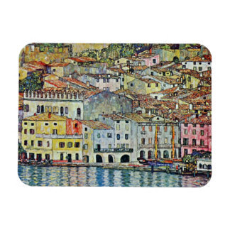 Malcesine on Lake Garda By Gustav Klimt Magnet