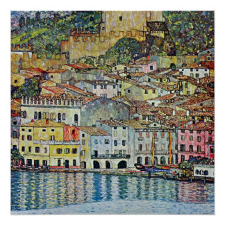 Malcesine on Lake Garda By Gustav Klimt Poster