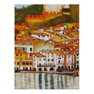 Malcesine on Lake Garda cute Postcard