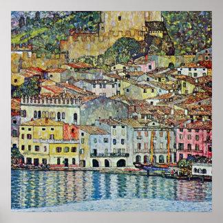 Malcesine on Lake Garda Gustav Klimt Vintage Art Print