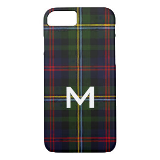 Malcolm Monogrammed Tartan Plaid iPhone 8 Case