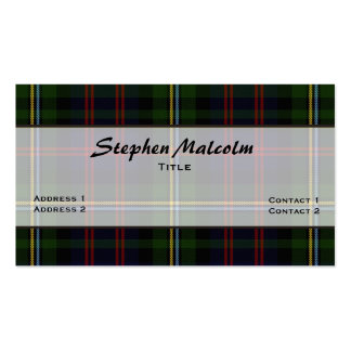 Malcolm Traditional Tartan Plaid Custom Pack Of Standard Business Cards