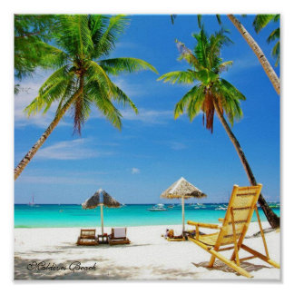 Maldives Beach - Value Poster Paper (Matte)