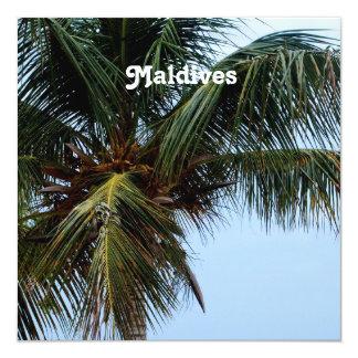 """Maldives Beaches 5.25"""" Square Invitation Card"""