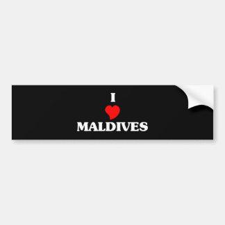 MALDIVES CAR BUMPER STICKER