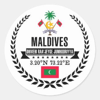 Maldives Classic Round Sticker