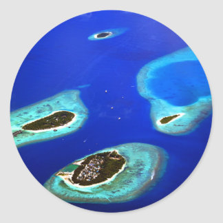 Maldives Classic Round Sticker