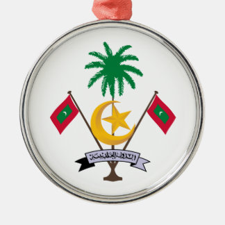 Maldives Coat Of Arms Metal Ornament