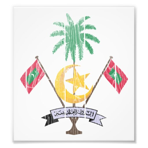 Maldives Coat Of Arms Photographic Print