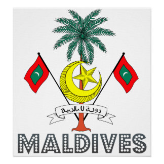 Maldives Coat of Arms Poster