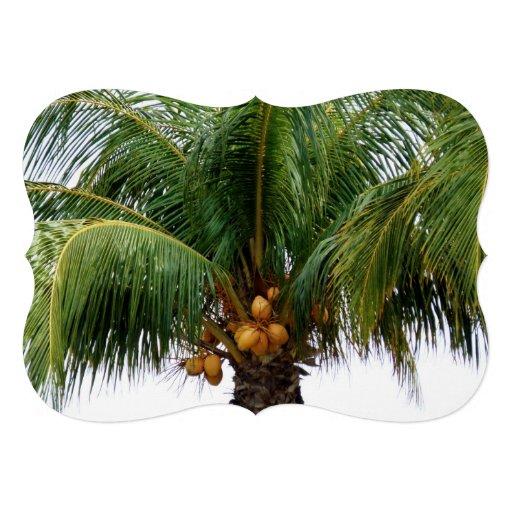Maldives Coconut Palm Custom Invites