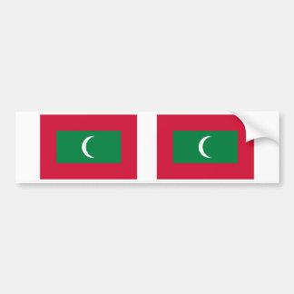 Maldives Flag Bumper Sticker