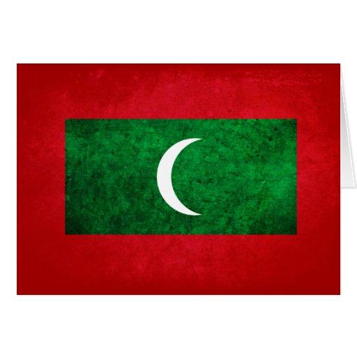 Maldives Flag Card