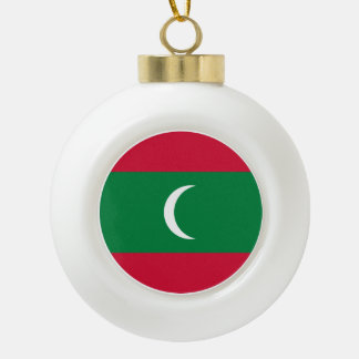 Maldives Flag Ceramic Ball Christmas Ornament