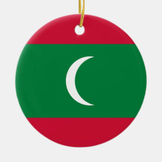 Maldives Flag Ceramic Ornament