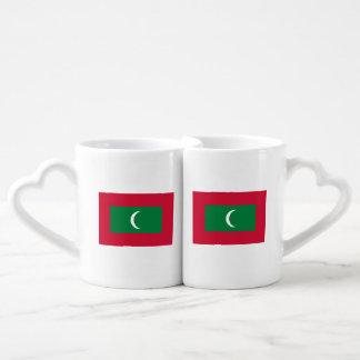 Maldives Flag Coffee Mug Set