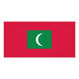 Maldives Flag Customized Photo Card