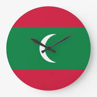 Maldives Flag Large Clock