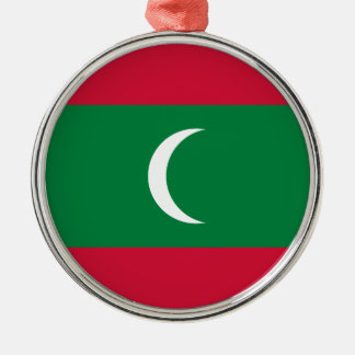 Maldives Flag Metal Ornament