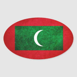 Maldives Flag Oval Sticker