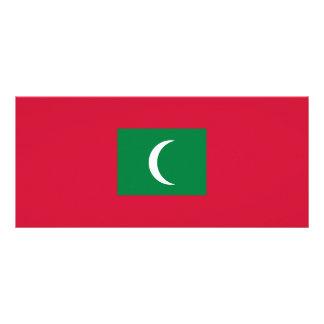 Maldives Flag Rack Card