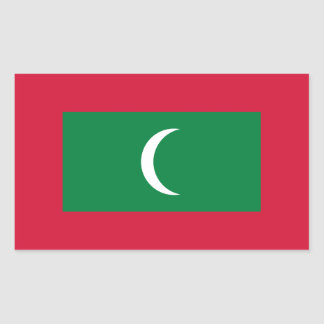 Maldives Flag Rectangular Sticker
