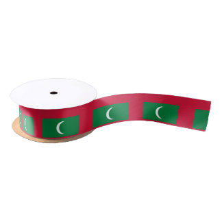 Maldives Flag Satin Ribbon