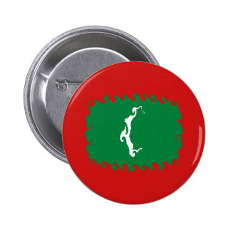 Maldives Gnarly Flag Buttons