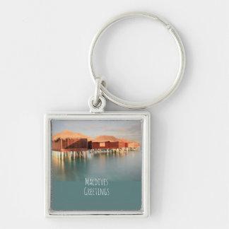 Maldives Greetings Beach Bungalows Peaceful Ocean Key Ring