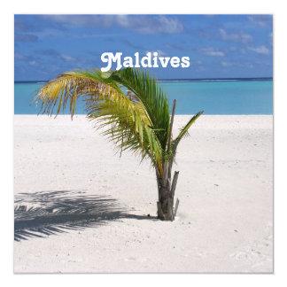 """Maldives 5.25"""" Square Invitation Card"""