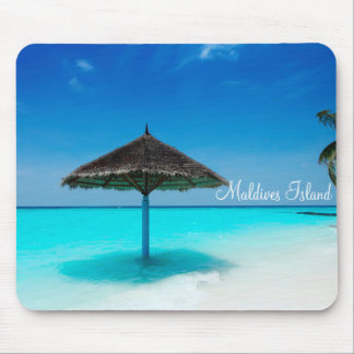 Maldives island romantic holiday mouse pad