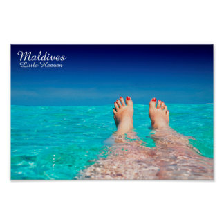 Maldives island romantic holiday poster