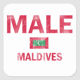 Maldives Male designs Square Sticker