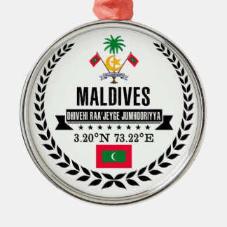 Maldives Metal Ornament