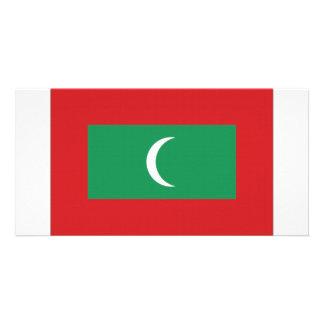 Maldives National Flag Photo Card Template