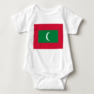 Maldives National World Flag Baby Bodysuit