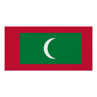 Maldives National World Flag Poster