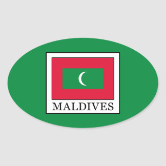Maldives Oval Sticker
