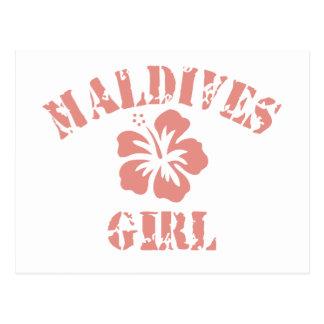 Maldives Pink Girl Postcard