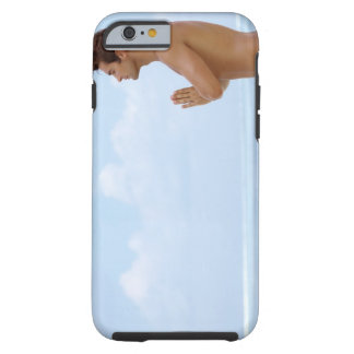 Maldives, Smart young guy practicing yoga at Tough iPhone 6 Case