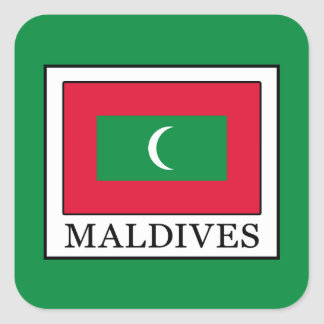 Maldives Square Sticker