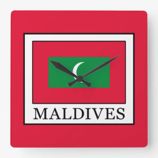 Maldives Square Wall Clock