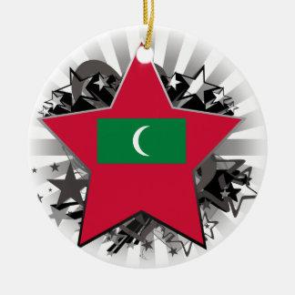 Maldives Star Round Ceramic Decoration