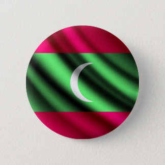 Maldives waving flag pinback button