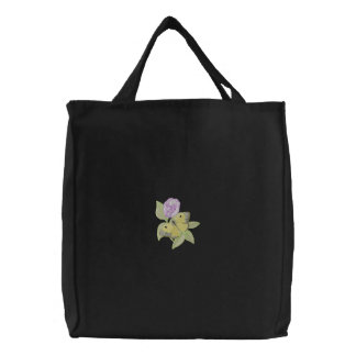 Male Alfalfa/ Butterfly Pea Embroidered Tote Bag