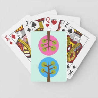 Male and female trees playing cards