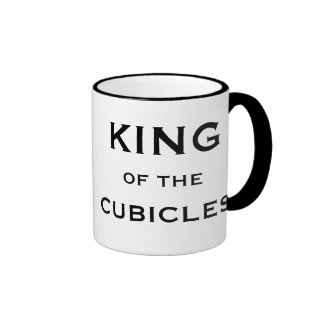 Male Boss Funny Nickname - King of the Cubicles Ringer Mug